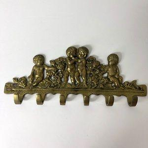 Vintage Brass Hooks Kids Children Decor